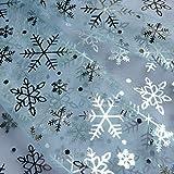Nortex Mill Organzastoff mit Schneeflocken-Motiv,