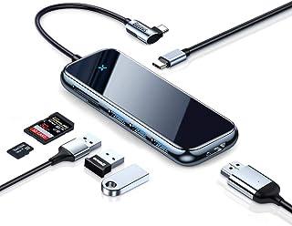 Hub C USB Baseus Adaptador de hub USB tipo C 7 em 1 Hub USB-c HDMI 4K, porta PD 60W, 3 portas USB, leitor de cartão SD/TF ...