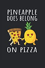 PIzza Hawaii Ananas Pizza Essen: Lined grid Journal or Notebook (6x9 inches) with 120 Pages (German Edition)