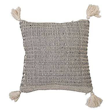 Bloomingville Home Accessories Beige Cotton Pillow with Tassels