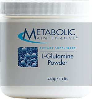 Metabolic Maintenance L-Glutamine Powder - 1000 Milligrams, Pure Amino Acid Support for Gut Health, (500 Grams, 500 Servings)