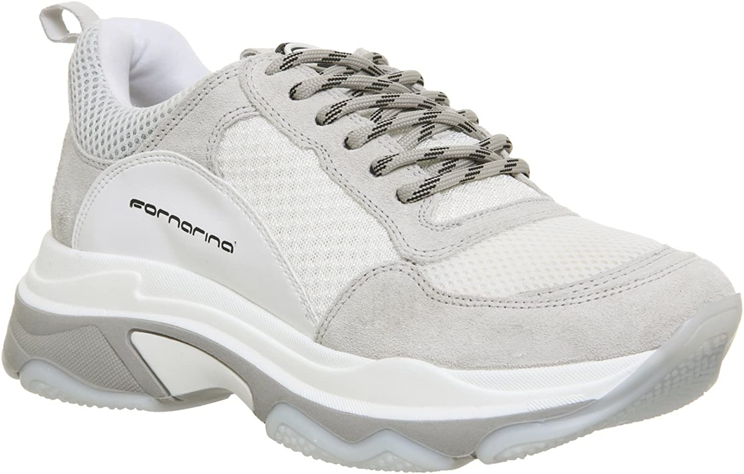 Fornarina Womens White Super 4 Chunky Sneakers