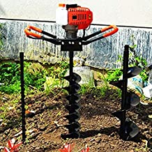 55C 2-stroke Earth Auger Post Fence Hole Digger Garden Tools Powered Engine with 4