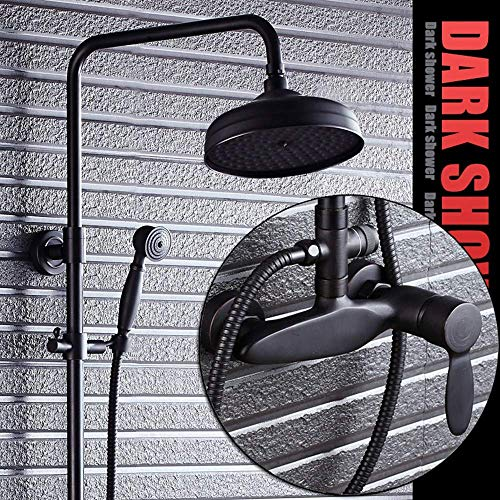 BINGFANG-W Set de ducha de pared Ducha Negro de bronce de estilo europeo Conjunto Negro aerosol baño grifo del baño Suministros del suministro de agua Ducha