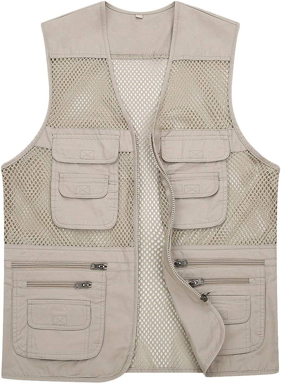 Pocket vest cotton summer and autumn men's sports and leisure multi-pocket vest