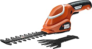 Black + Decker gsl700kit Grass Shears with 7V Lithium Ion Battery with a Pair of Gloves and Secateurs