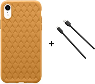 OtterBox Ultra Slim Case Firm Flex with Soft Touch for iPhone XR + Lightning Cable - Retail Packaging - Yellow Marmalade
