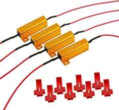 4PCS ARTR 50W 6ohm Load Resistors - Fix LED Bulb Fast Hyper Flash Turn Signal Blink Error Code(Resistor gets very hot duri...