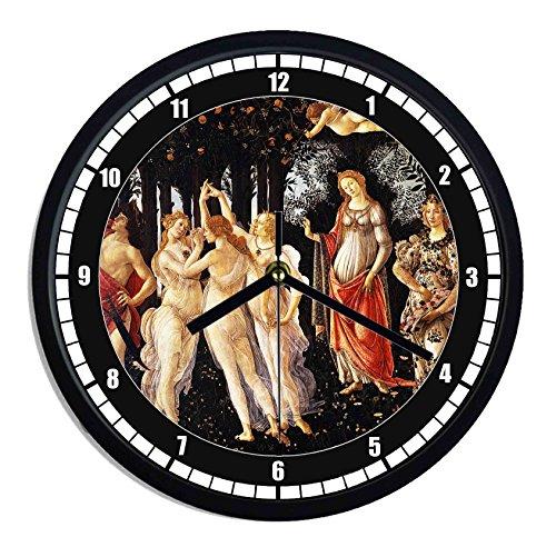 Reloj de pared de plástico Sandro Botticelli–la primavera