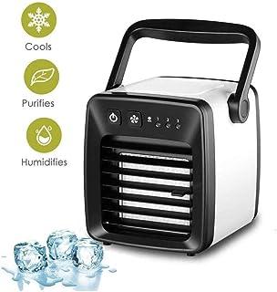 ZSAIMD Mini refrigerador de aire, mini portátil de la condición del aire, refrigerador de aire y el ventilador y humidificador purificador de aire purificador circulatorio humidificador más fresco con