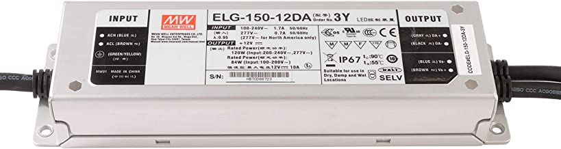 Voeding DALI IP67 Mean Well ELG-150-12DA 120W 12V 10A LED dimbaar 220V