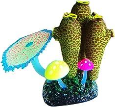 MJuan-clothing,Aquarium Artificial Grass Aquarium Accessories, Fluorescent Artificial Fish Tank Aquarium Coral Sea Anemone Plant Ornament Decor - Deep Green
