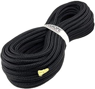 Kanirope Polyesterseil mit Aramidkern Kevlarseil Seil PARABRAID 4mm 30m Schwarz geflochten