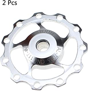 Derailleur Pulley 11T CYSKY Rear Derailleur Jockey Wheel Fit for Road Bike, Mountain Bike, MTB, BMX (2 Pack, Aluminum Alloy, Black/Red/Silver)