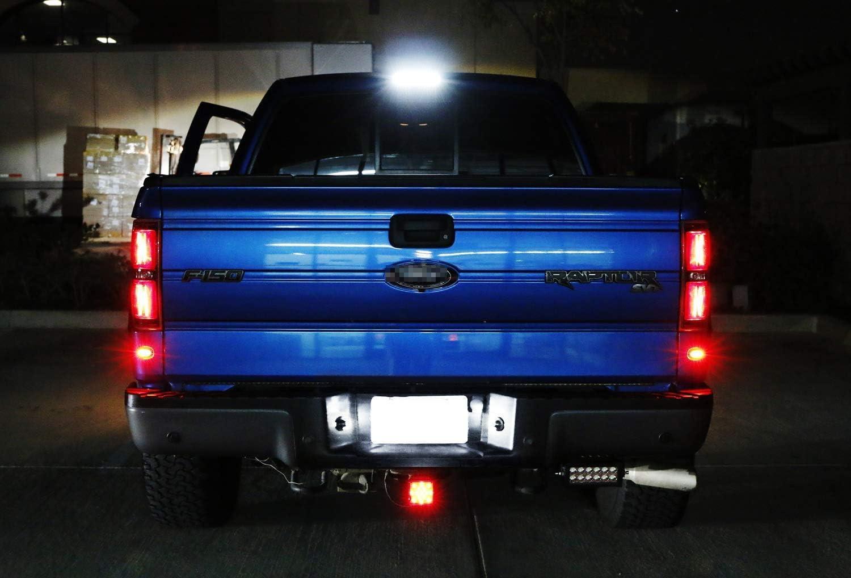 iJDMTOY Oem-Fit 3W Full Led License Plate Light Kit For 2019-Up Ford Ranger Powered By 18-Smd Xenon White Led Diodes
