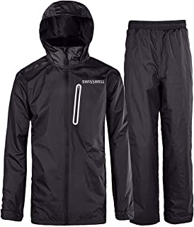 GEEK LIGHTING Men's Rain Suit Waterproof Lightweight Durable Hooded Jacket with Pants