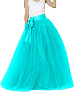 Anqila Women's Long Skirt Tulle A Line Evening Party Dance Wedding Skirts Tutu 3