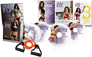 ZONEV 21 Day Fix Workouts DVDs,4 DVD Set Workout Program