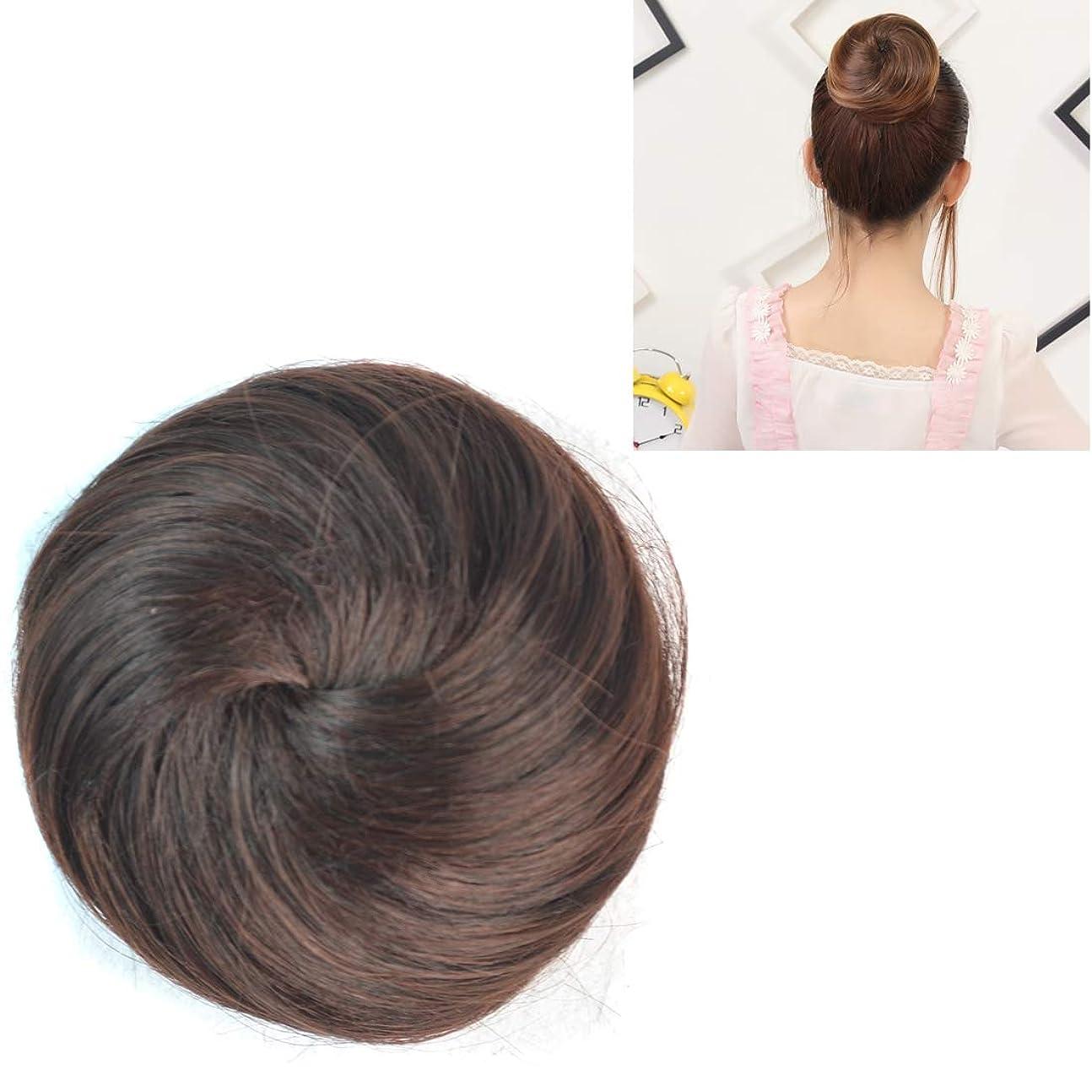 財布シリング麻痺美しさ かつらの花の形のヘアパッケージヘアディスク ヘア&シェービング (色 : Dark Brown)
