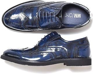 [エムエムワン] ビジネスシューズ メンズ ウイングチップ メダリオン内羽根 レースアップ 紳士靴 青 紺 ネイビーアドヴァン 42(26.0cm)