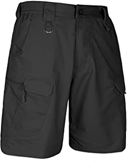 HARD LAND Men's 9.5 Inches Waterproof Tactical Cargo Shorts Elastic Waist Work Shorts Hiking Big Tall