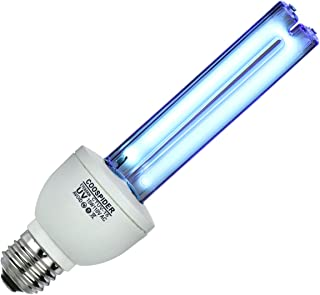 UV Germicidal Bulb Ultraviolet Light Lamp Screw Socket E26 15w 110v Covers up to 300sq ft. UVC Ozone Free