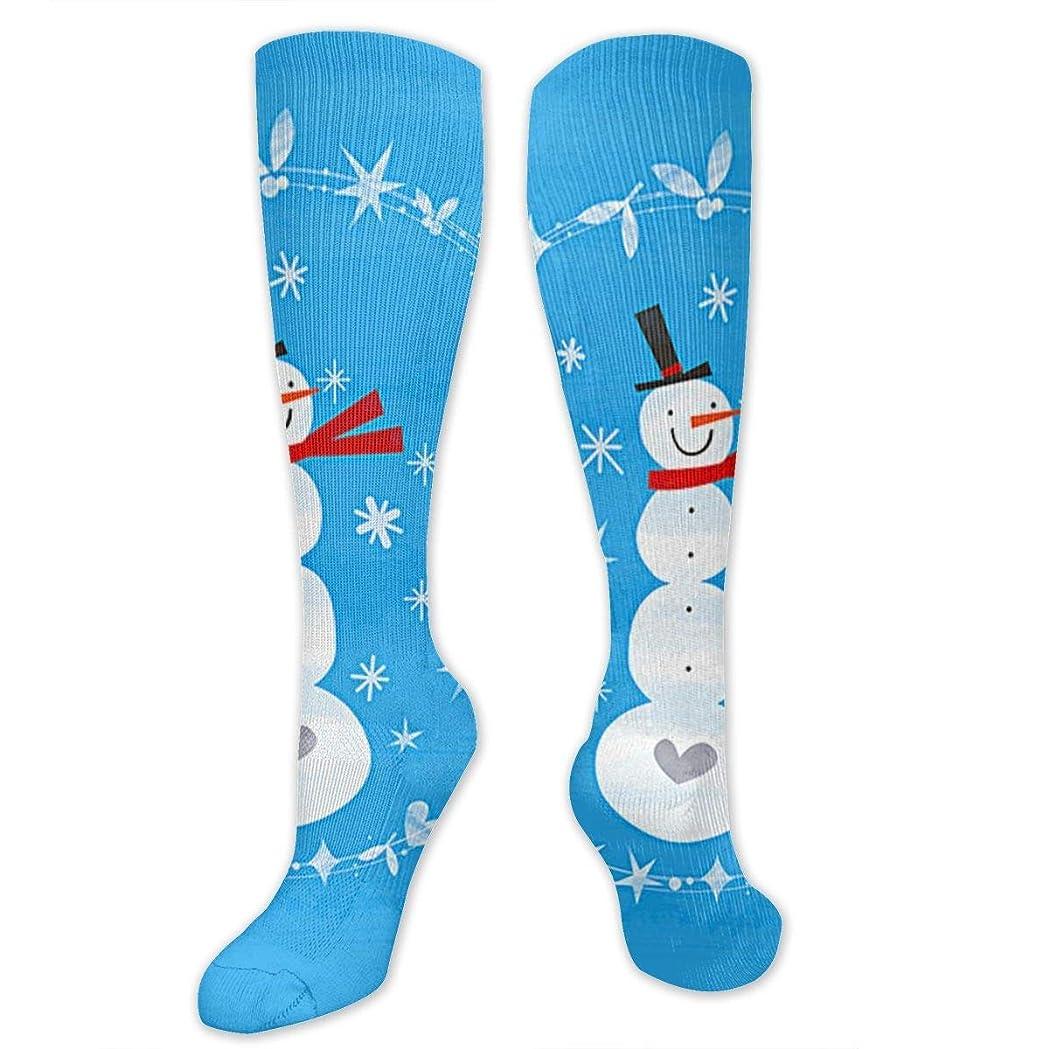 洞察力フロント睡眠靴下,ストッキング,野生のジョーカー,実際,秋の本質,冬必須,サマーウェア&RBXAA Winter Christmas Snowman Socks Women's Winter Cotton Long Tube Socks Cotton Solid & Patterned Dress Socks