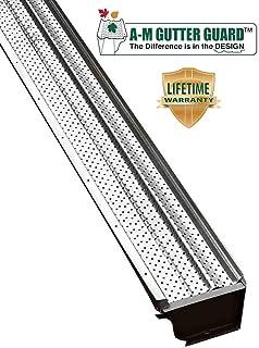 """A-M Aluminum Gutter Guard 5"""" (100 Feet, Mill Finish)"""