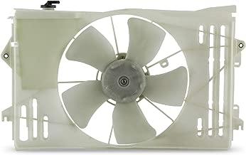 Radiator Clear Fan Fits 2003-2008 Pontiac Vibe 03-08 Toyota Corolla Matrix 1.8L L4 Model Condenser Cooling w/Motor