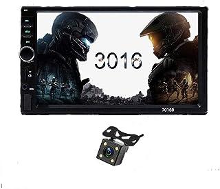 2din 7-inch dual-ingot full-touch mobiele telefoon projectiescherm auto video 7018B met 4led camera