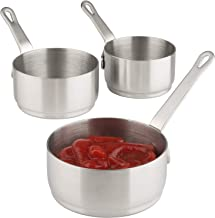 Dipping Sauce Cups Stainless Steel Sauce Dish with Handle for Condiment, Ketchup, Appetizer, Ramekin (Sauce Cups)