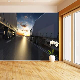 3d rendering of generic transportation concept at dawn bridge at Self Adhesive Peel and Stick Wallpaper Self Stick Mural Photos Home Wall Paper Sticker Wall Mural Decals Fresco Posters Removable