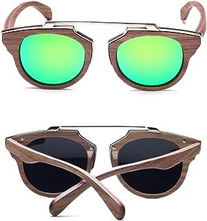 Skateboard Wood Sunglasses Polarized Mens Oversize Retro Shades in Original Box