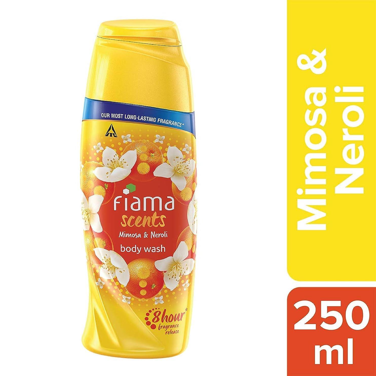 反発救援逆さまにFiama Scents Mimosa and Neroli Body Wash, 250 ml