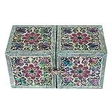 Cajón de madera lacada con incrustaciones de madre de perla, joyería secreta para mujer, pequeña, aretes, recuerdos, caja de regalo del tesoro, caja organizadora de almacenamiento