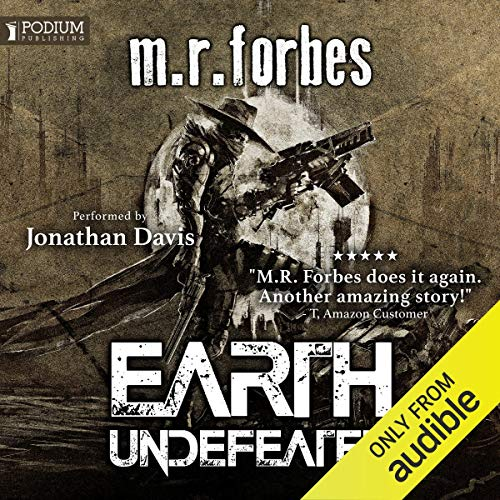 Earth Undefeated audiobook cover art