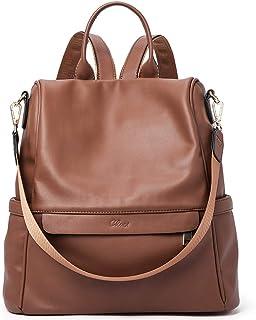 CLUCI Rucksack Damen Leder Mode Diebstahlsicherer Reiserucksack Anti Diebstahl Schultertasche für Frauen 2 in 1