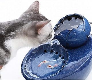 IMDOU Dricksfontäner för katter hundar bladform husdjur vatten fontän keramik automatisk cykeldispenser supertyst pump och...