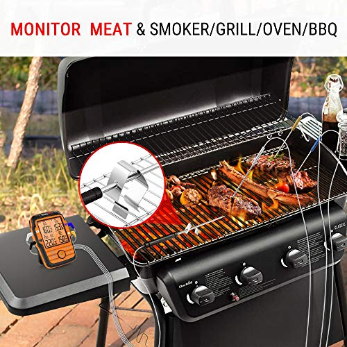 Product Image 5: ThermoPro TP27 500FT Long Range Wireless Meat Thermometer for Grilling and Smoking with 4 Probes Smoker BBQ Grill Thermometer Kitchen Food Cooking Thermometer for Meat