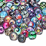 50 PCS Snap Jewelry Charms 18mm Interchangeable Jewelry Snap Charms,Snap Charms for Snap Jewelry Bracelet,Glass Snap Buttons Jewelry …