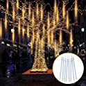 Topist Falling Raindrop Lights with 8 Tubes and 144 LED
