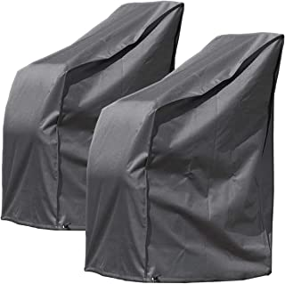 MONKEY MOUNTAIN 2 Piezas Fundas Protectoras Deluxe para hasta 8X sillas de jardín/Silla de salón con Bolsa de Transporte - 65 x 65 x 120/80 cm - poliéster Oxford 420D