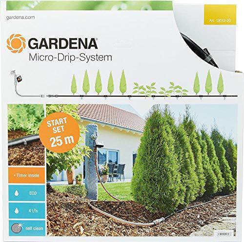Gardena Start Set Pflanzreihen M automatic: Micro-Drip-System zur schonenden, wassersparenden Gartenbewässerung von Reihenpflanzungen (13012-20)