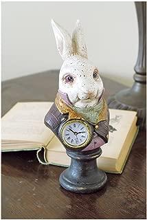 Alices In Wonderlands White Rabbit Resin Desk Clock