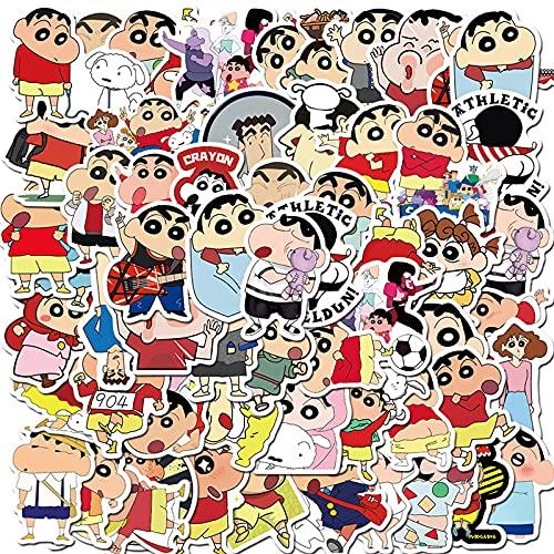 ZNMSB 50 Pegatinas japonesas de Dibujos Animados Anime Crayon Shin-Chan Aliexpress Gran Oferta Maleta con Ruedas Pegatinas de Graffiti a Prueba de Agua