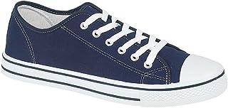 Mens Canvas Bumper Shoes - Retro plimsolls - Baltimore