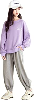 amropi Girl's Tracksuit Sweatshirt and Sports Jogging Pants Clothing Set 2 Pieces Outfits for 3-13 Years