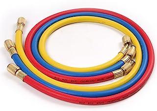 "Atoplee 3pcs (2500~500) PSI 1/4""SAE-1/4"" SAE AC Charging Hose Set For HVAC Air Condition Refrigerant R12 R22 R502"
