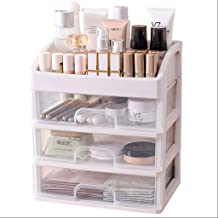 Chair Stool كرسي البراز Cosmetic Organizers Office Chairs Cosmetic Drawers Art Jewelry Storage Skin Care Box Make up Brushes Lip Brush Lipstick Shelf (Color: Transparent),Colour:Clear