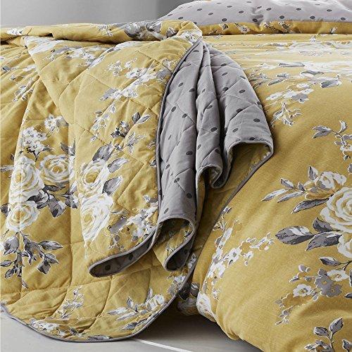 Catherine Lansfield Canterbury Tagesdecke, pflegeleicht, Ocker, Bedspread - 220x230cm